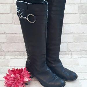 Coach Black Leather Boots sz 8
